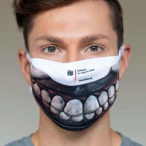 """Mund-Nasen-Schutz """"Ohne Zähne ist alles Mist! (Foto: Barbara Frommann)"""